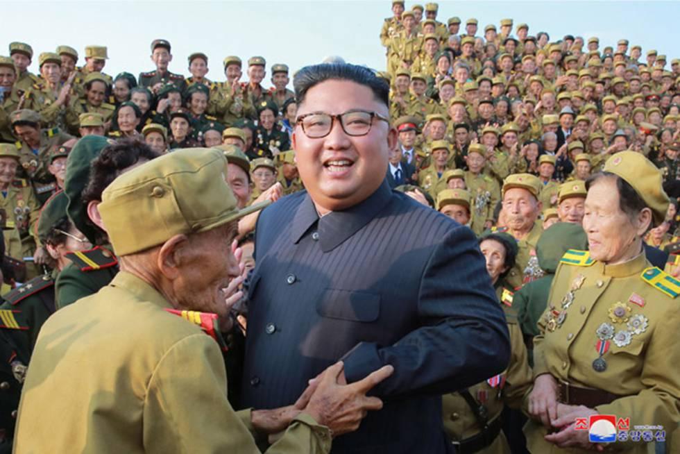 Kim Jong-un en un acto en Corea del Norte.