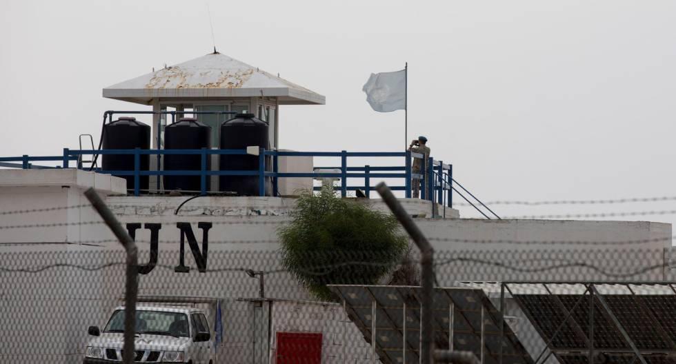 Una base de la ONU en Mitzar, en los Altos del Golán.