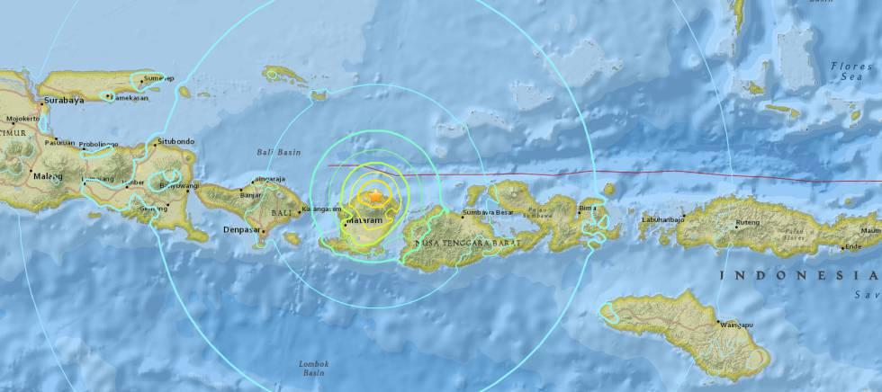 Terremoto Indonesia Lombok