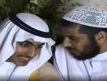 Hamza bin Laden (izquierda), en documentos difundidos por la CIA.