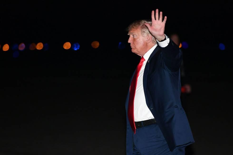 Donald Trump el sábado en Nueva Jersey.