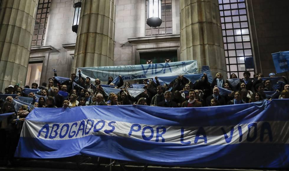 Una manifestación contra el aborto en Argentina.