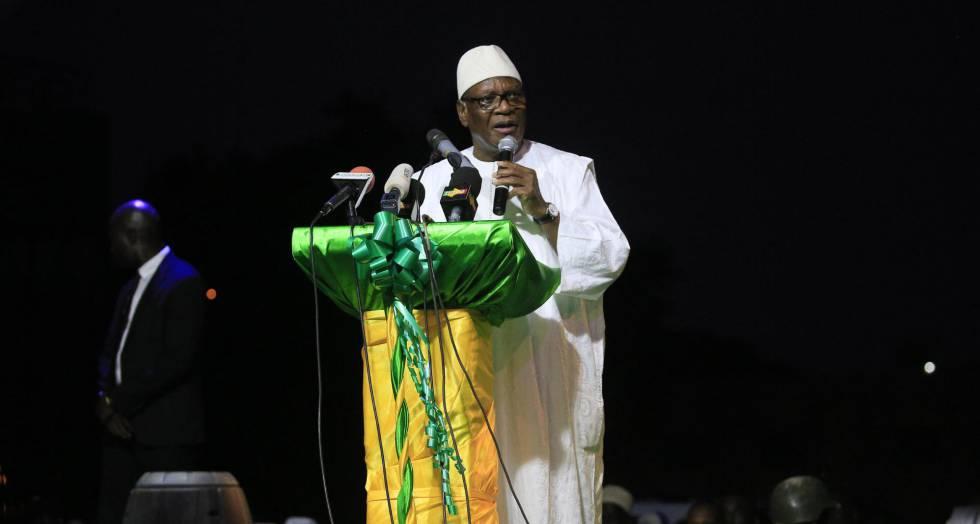 Ibrahim Boubacar Keita, este viernes en Bamako (Malí).