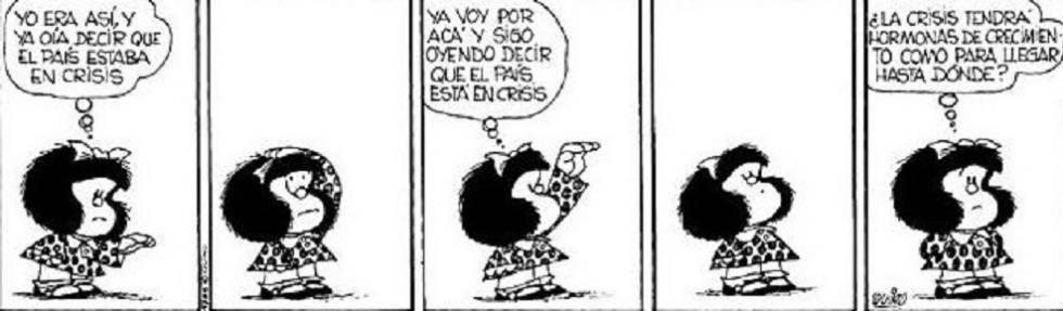 Mafalda anticipó hace más de medio siglo la crisis argentina