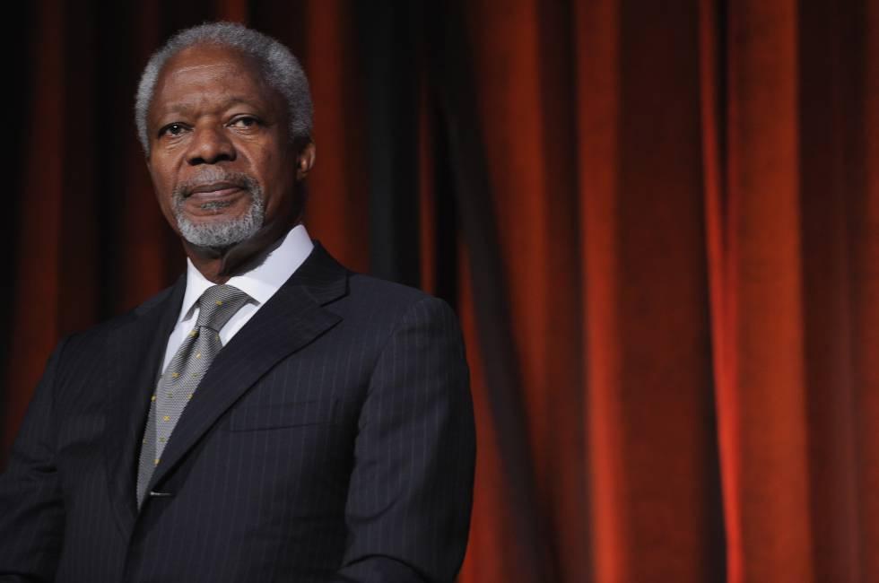 Kofi Annan, em Nova York em 2012.