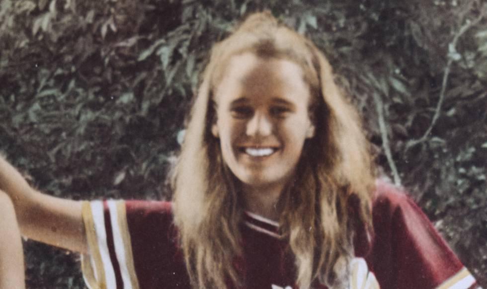 Foto de Mary McHale quando era adolescente.