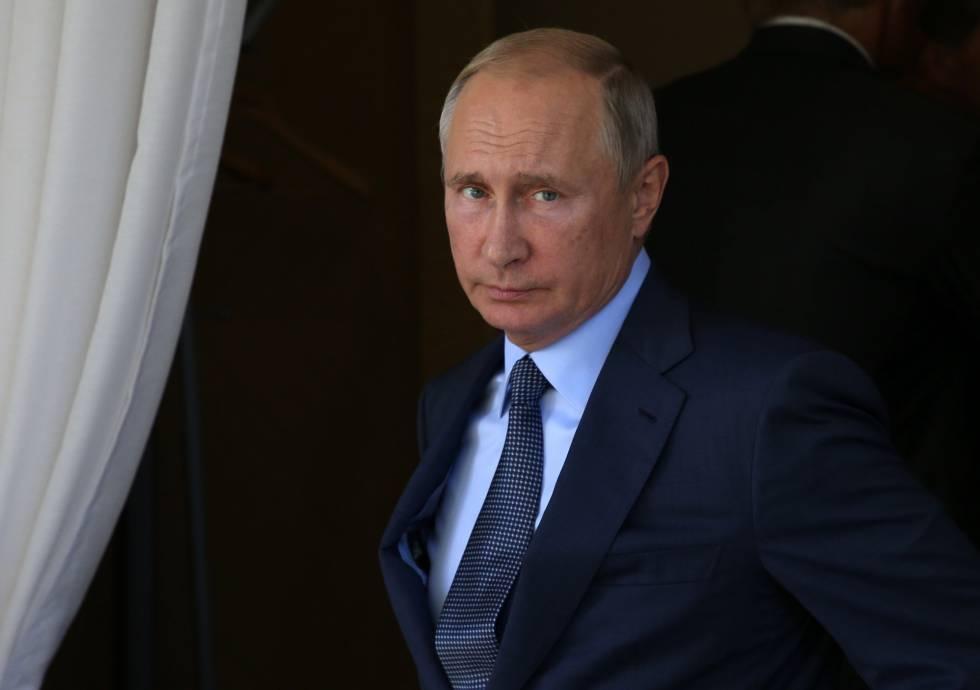Vladímir Putin este miércoles en su residencia de Sochi.