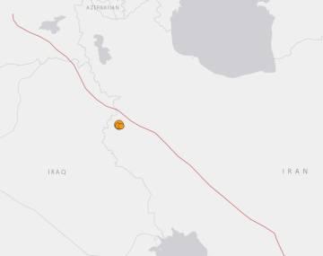 Localización del terremoto y sus réplicas.
