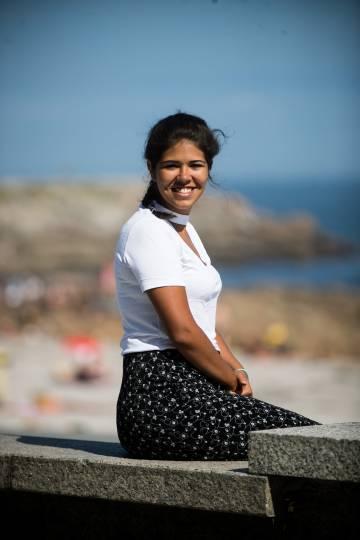 Andrea, estudiante hispano venezolana residente en Madrid, de vacaciones en A Coruña.