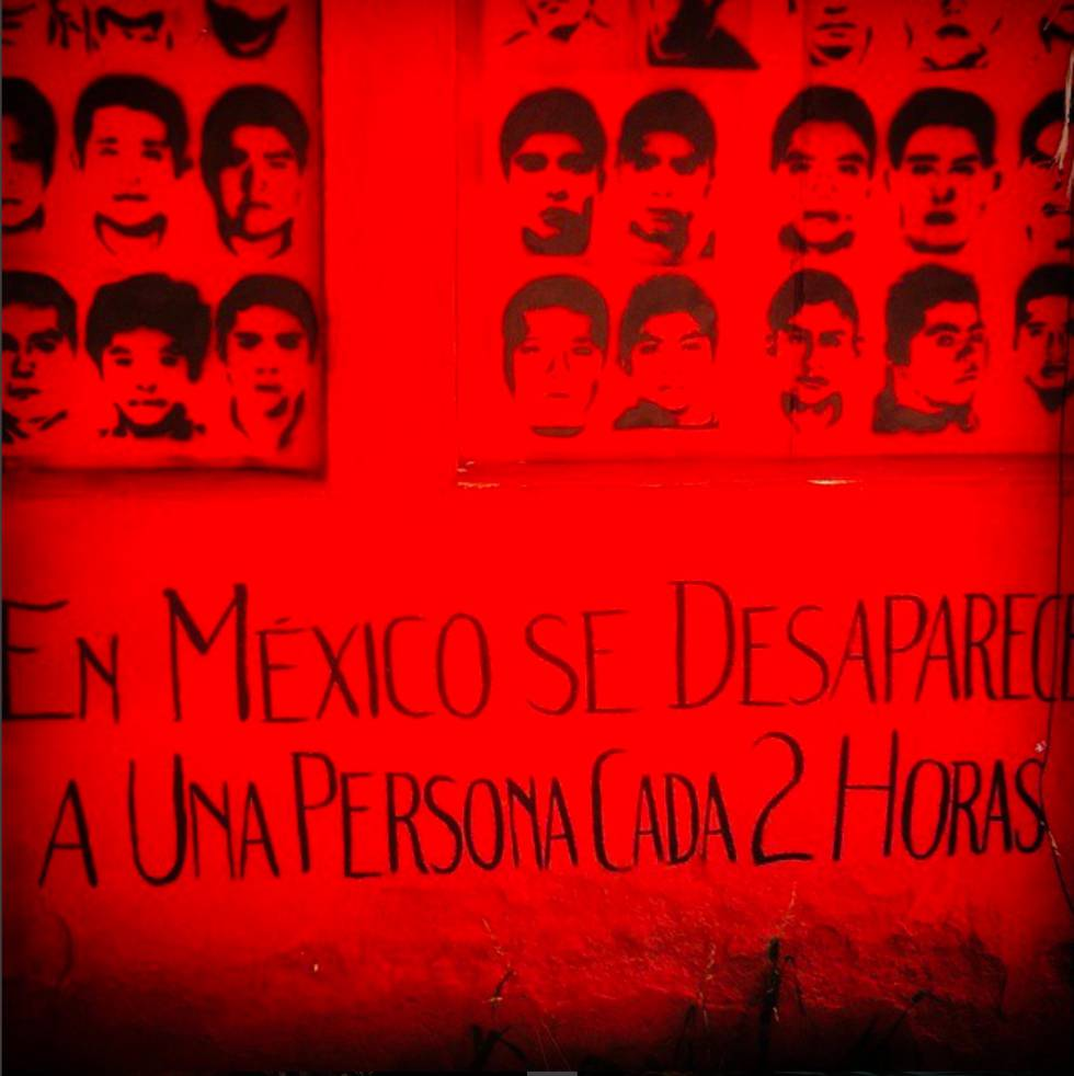 Rostros de los desaparecidos en las montañas de Guerrero.