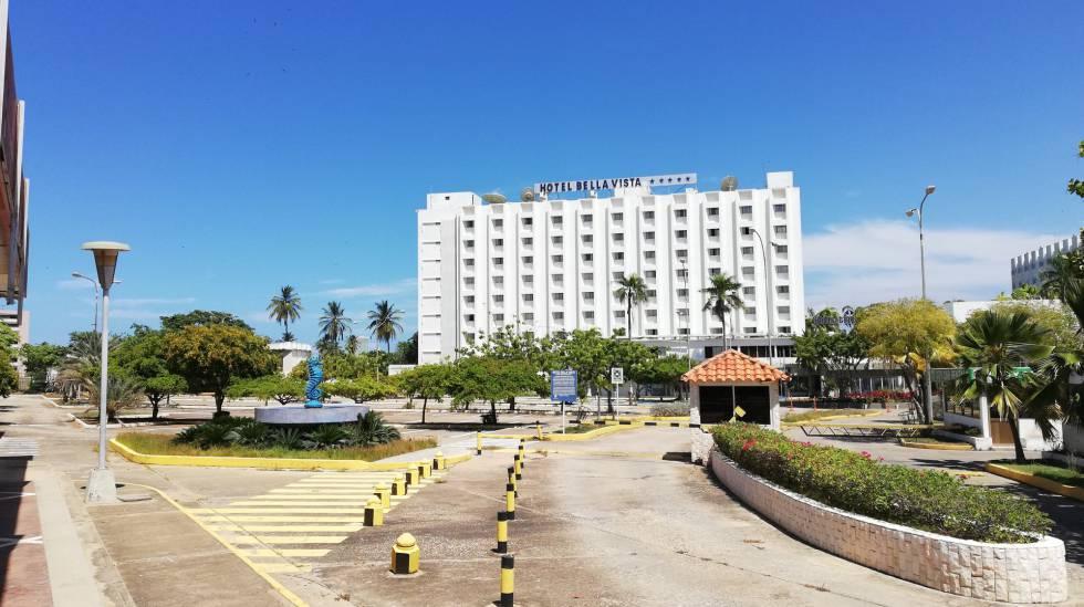 Hotel cerrado en Isla Margarita, en Venezuela.