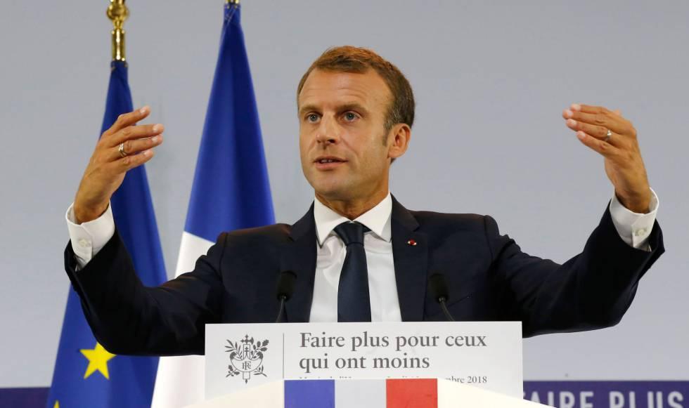 Macron, durante la presentación del plan.
