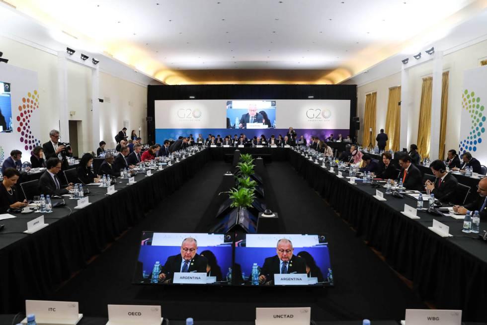 Sesión inaugural de la reunión ministerial de Comercio e Inversiones del G-20 en Mar del Plata.