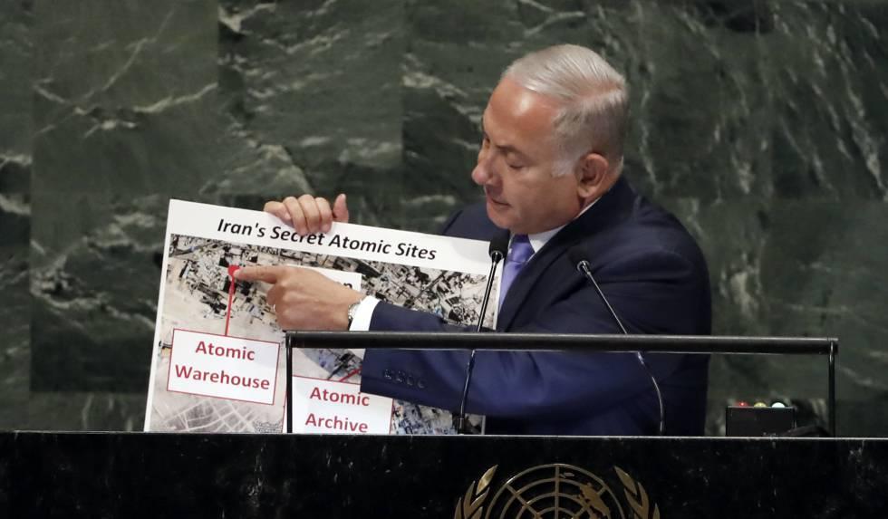 Benjamín Netanyahu, este jueves durante su intervención en la ONU.