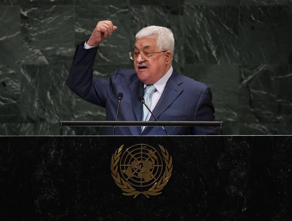 Mahmud Abbas, este jueves en la ONU.
