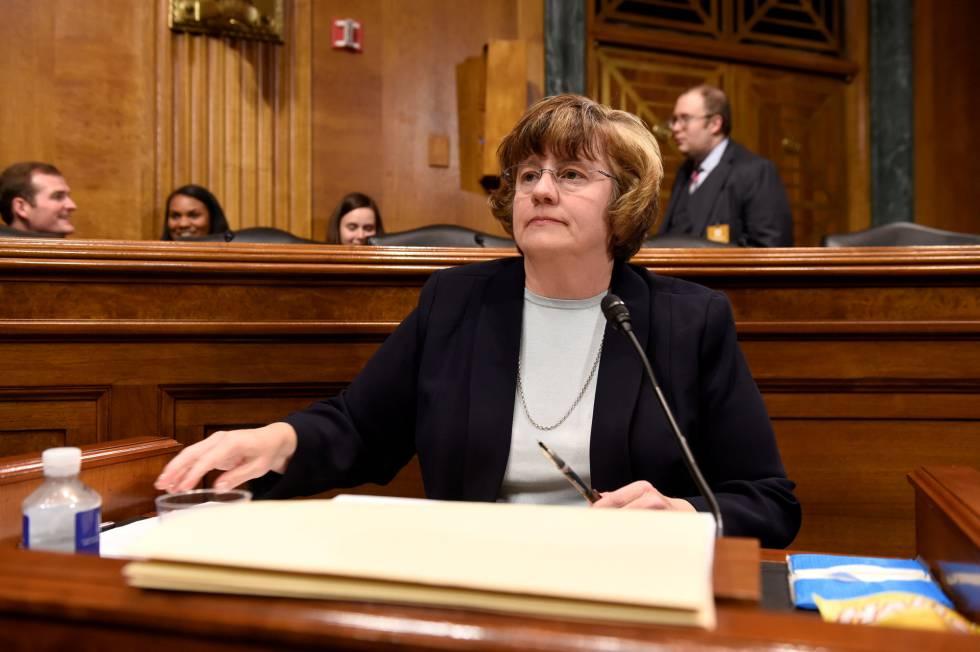 La fiscal Rachel Mitchell, este jueves en el Senado.