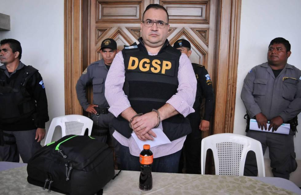 Javier Duarte, antes de ser extraditado a México.