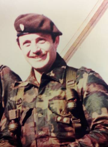 El soldado argentino Rubén Márquez.