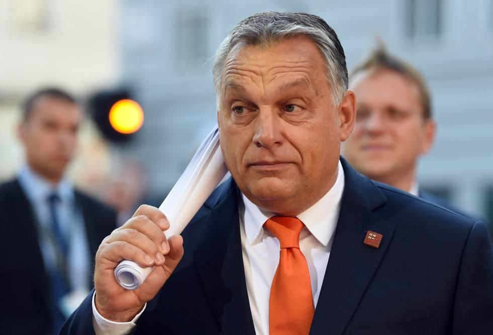 El primer ministro de Hungría Viktor Orbán a su llegada a la cumbre europea en Salzburgo el 20 de septiembre de 2018.