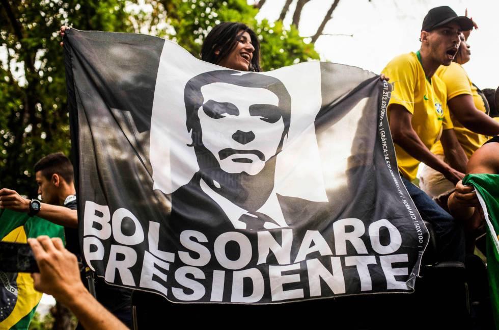 Partidarios de Jair Bolsonaro, a finales de septiembre en São Paulo.