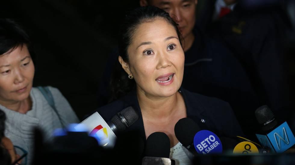 Keiko Fujimori comparece ante la prensa hace dos semanas en Lima (Perú).