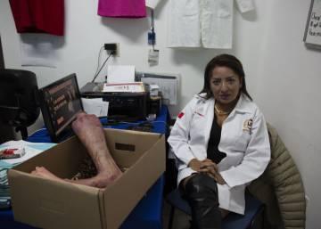 Gilda Nava, directora de Interjurídica, en su despacho (Ciudad de México).