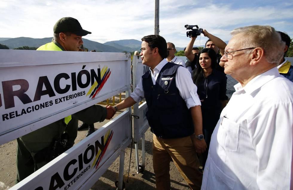 El delegado de la ONU para Venezuela, Eduardo Stein, este martes en Cúcuta.