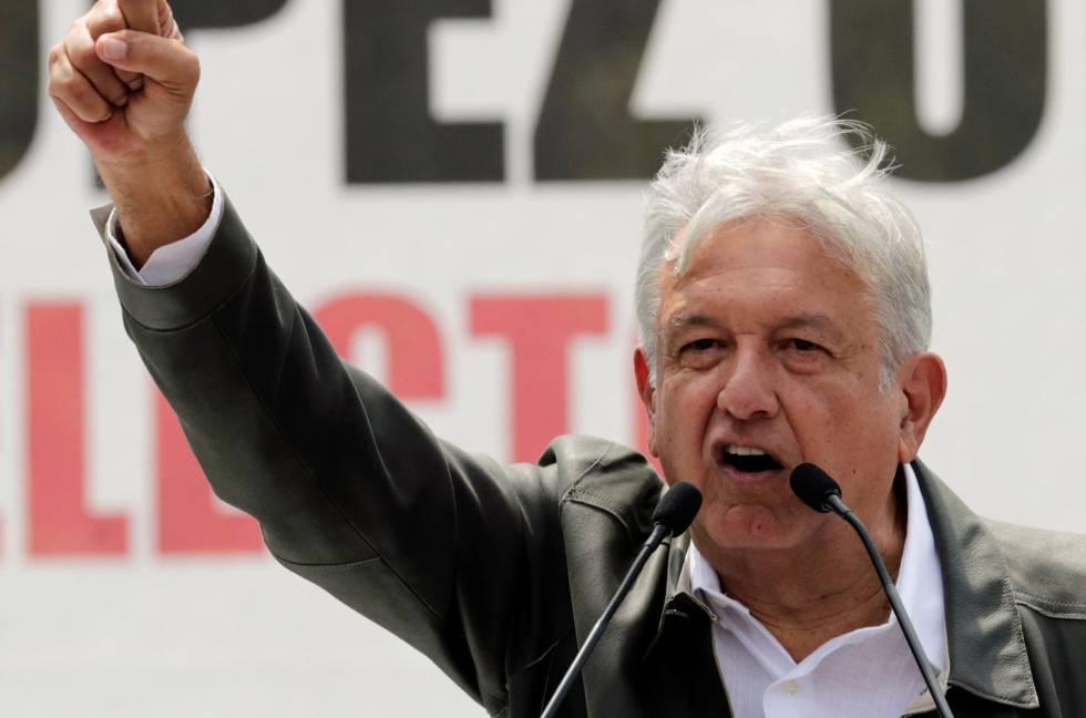 López Obrador durante un mitin en Ciudad de México en septiembre.
