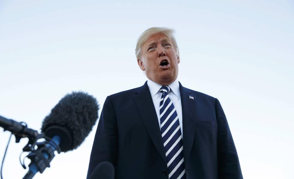 El presidente de EE UU, Donald Trump, este sábado en Elko (Nevada).