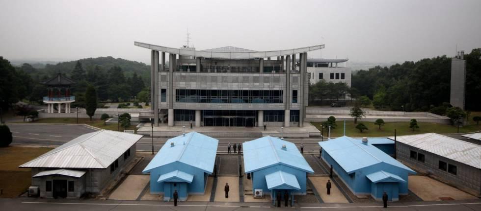 Panmunjom, en la zona desmilitarizada entre las dos Coreas.