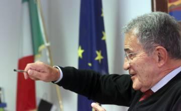 Romano Prodi, durante la entrevista en su despacho de Bolonia.