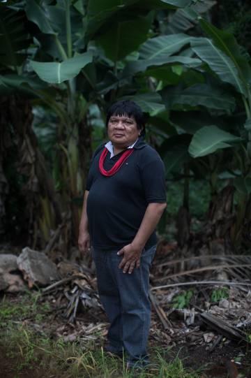 Almir Suruí, líder indígena en Terra dos Pater Suruí.