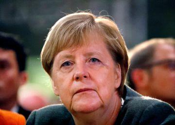 Angela Merkel, en un mitin en Hesse el 22 de octubre.rn