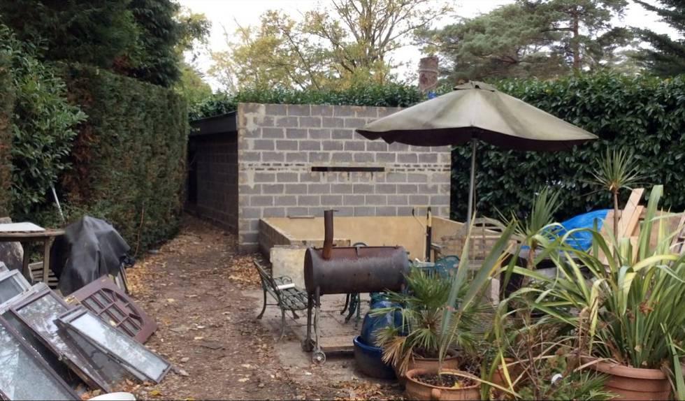 Imagen de una caseta levantada en el jardín de una casa donde vivía una persona en condiciones de esclavitud.