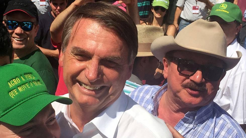 El presidente electo de Brasil, Jair Bolsonaro, en un acto con agricultores en Ribeirao Preto, el pasado 30 de abril.