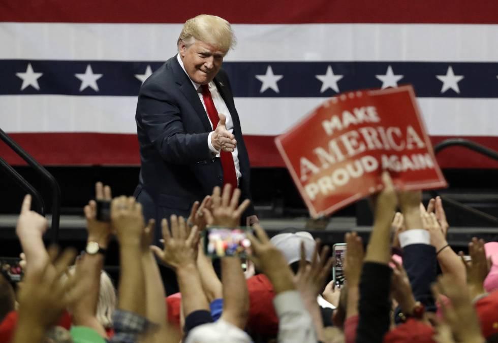 Donald Trump, este domingo en Chattanooga (Tennessee).