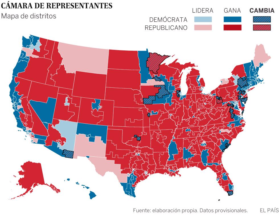Los demócratas recuperan la Cámara de Representantes y debilitan a Trump