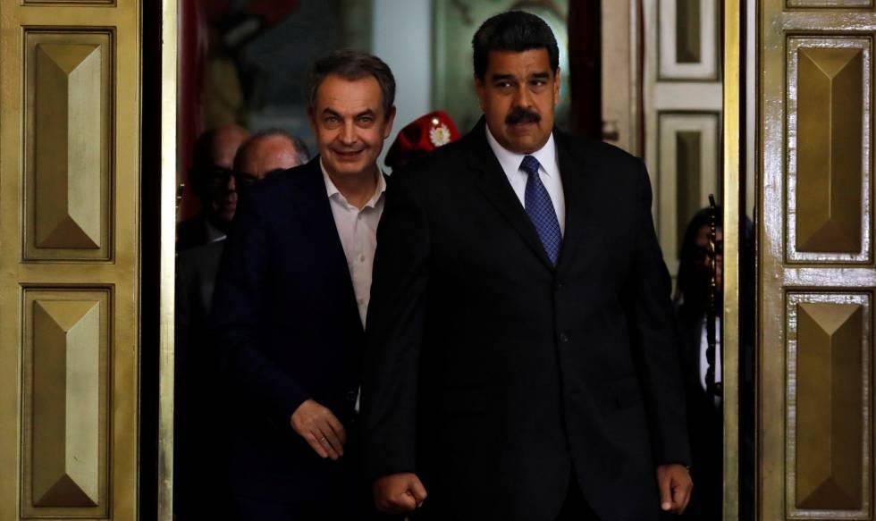Maduro y Zapatero en una imegan de mayo del 2018 en Caracas.