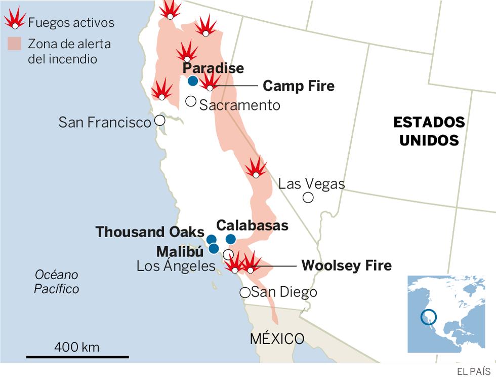 El incendio de Paradise es el más mortal de la historia de California con 42 muertos