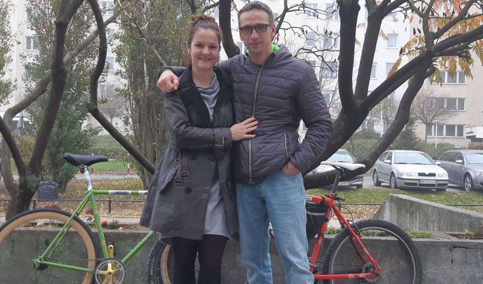 Jga Ciborowska, de 34 años, y Artur Kutylowski, de 42, el sábado pasado en Varsovia.