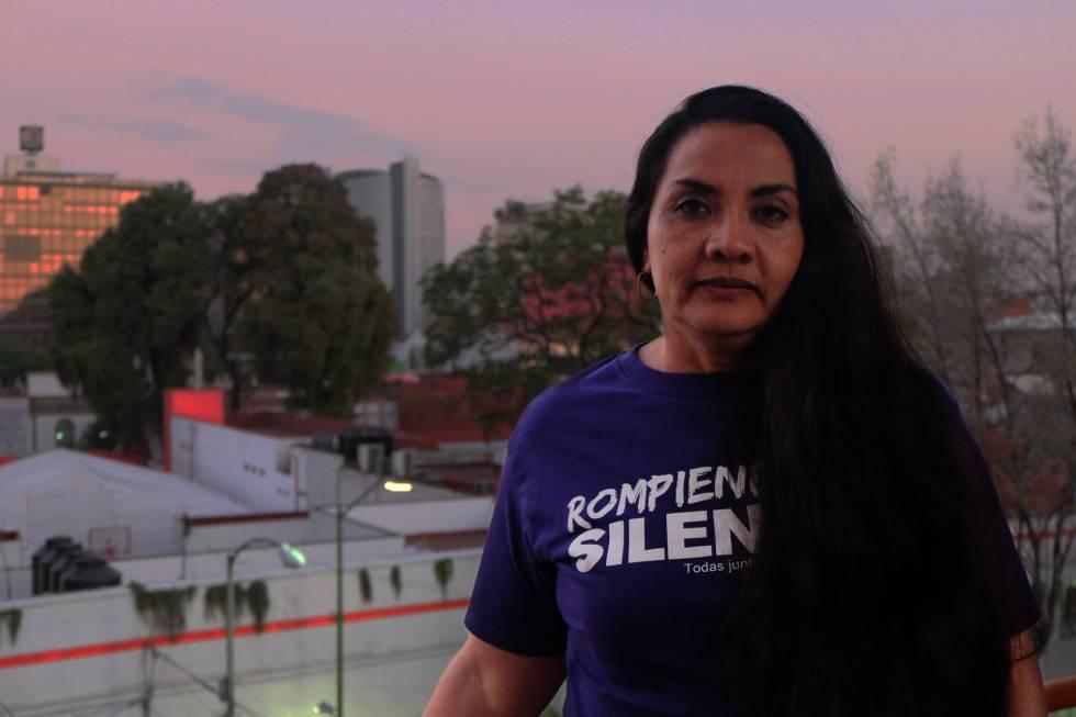 Magdalena Saavedra durante la entrevista en Ciudad de México.