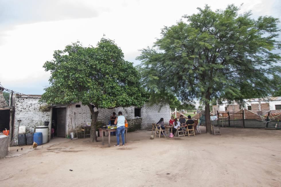 La casa de Rosa Grilo en Colonia Aborígen, Chaco.