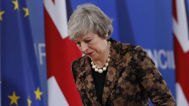 Theresa May, este viernes en Bruselas.