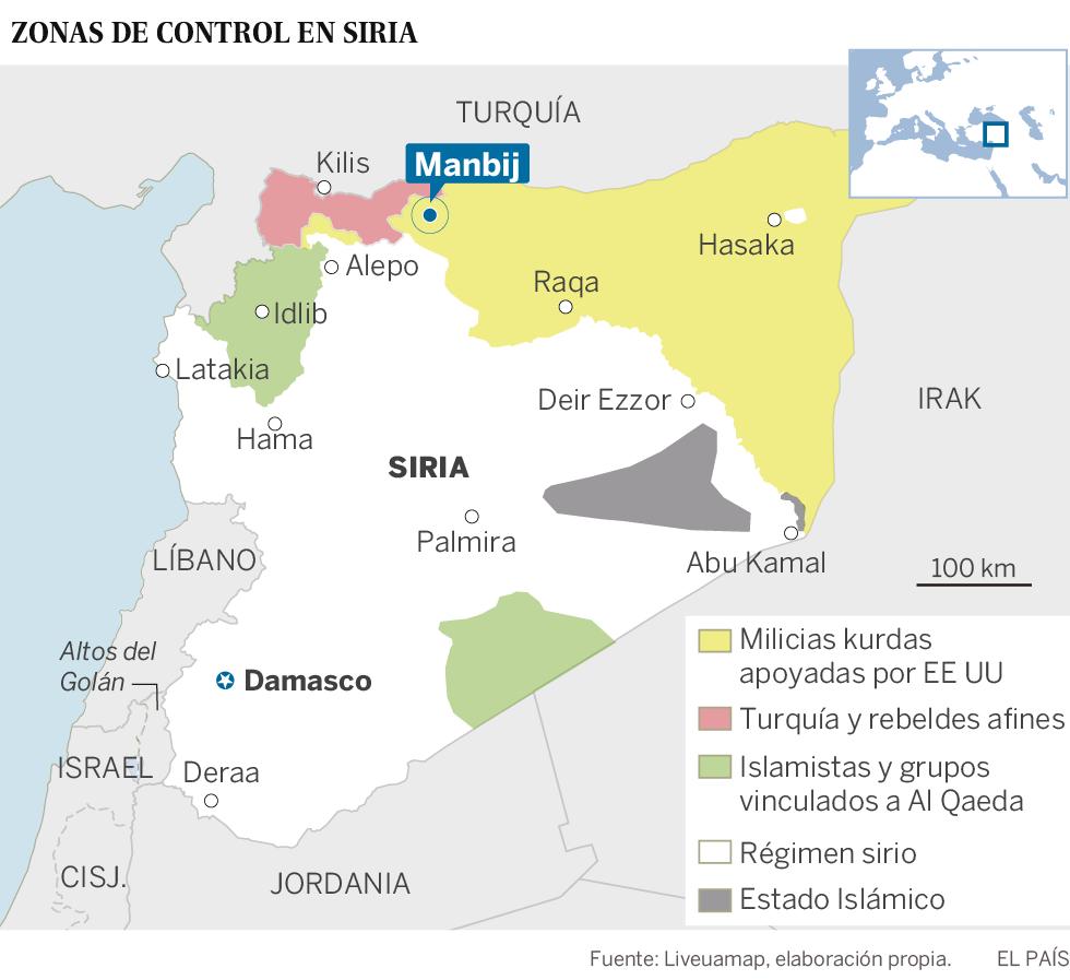 Las milicias kurdas entregan a El Asad una ciudad estratégica para impedir el avance turco
