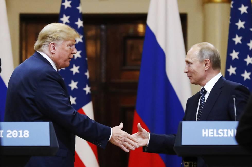 Trump y Putin en la cumbre de Helsinki, el pasado julio.