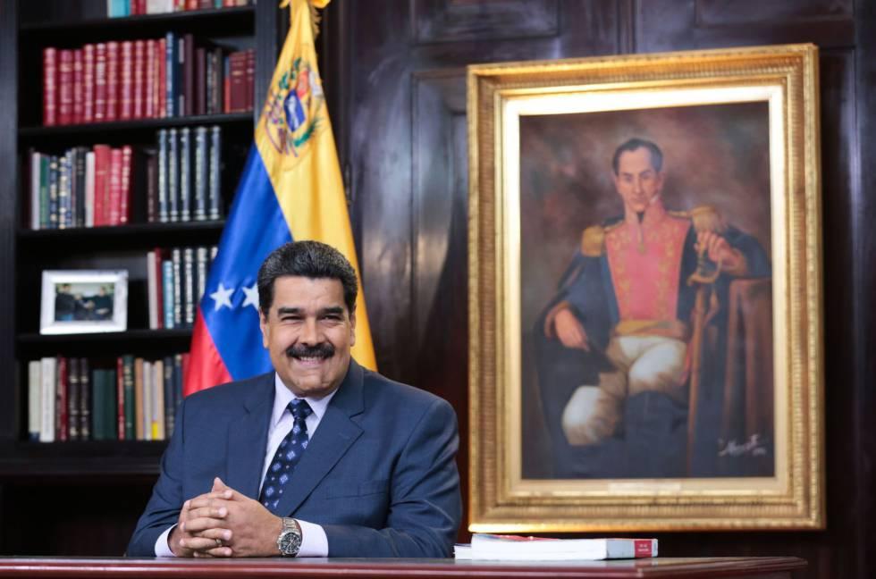 El presidente venezolano, Nicolás Maduro, durante su mensaje de año nuevo.