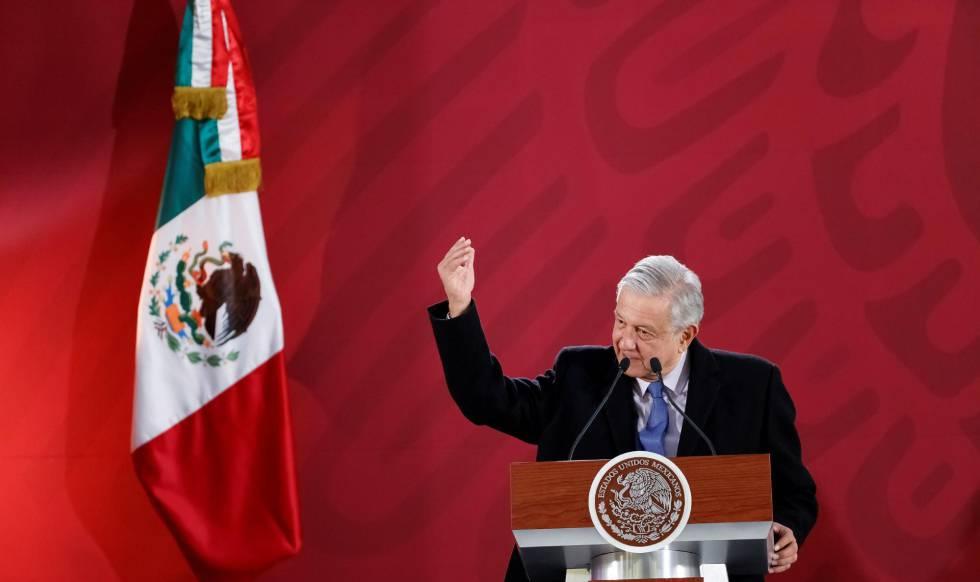 López Obrador, durante una conferencia de prensa.