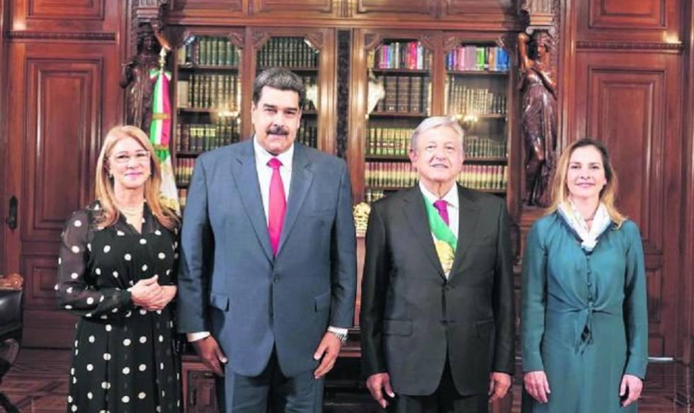 Los mandatarios de Venezuela, Nicolás Maduro, y de México, Andrés Manuel López Obrador.