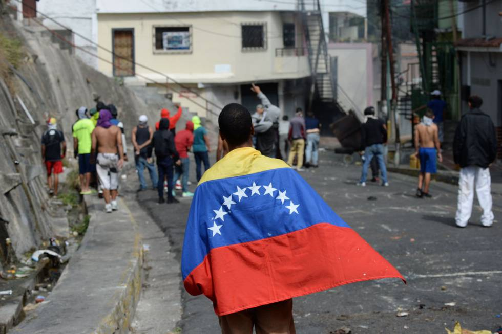 Manifestación en Caracas este lunes.