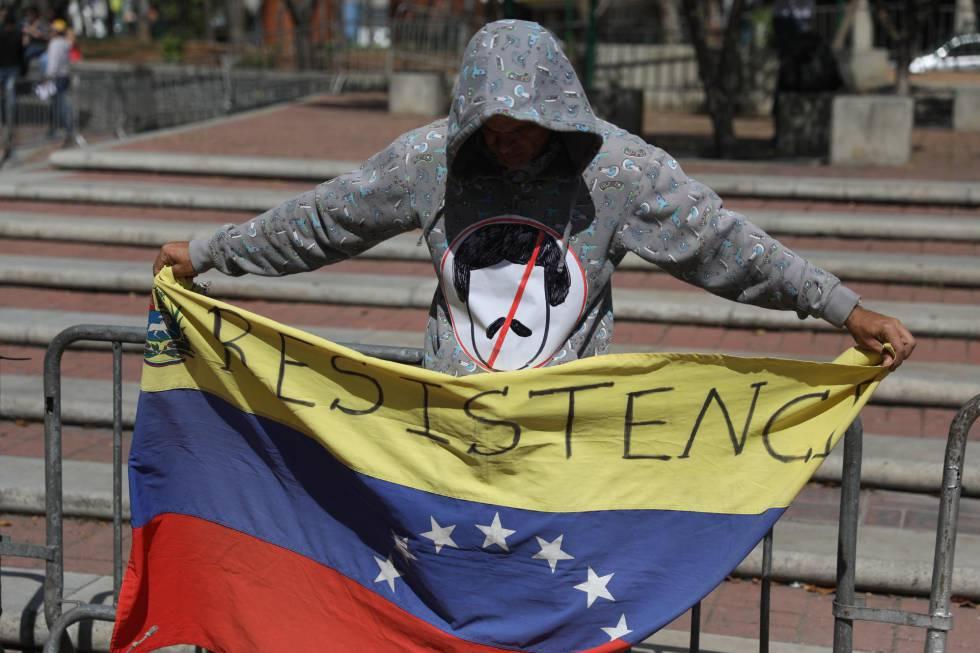 Simpatizantes de Juan Guaidó, en Caracas.